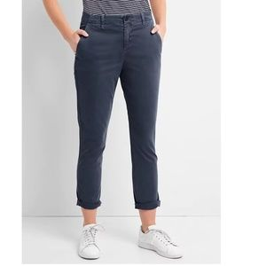 Gap Girlfriend Twill Stripe Chinos 20 Blue v543